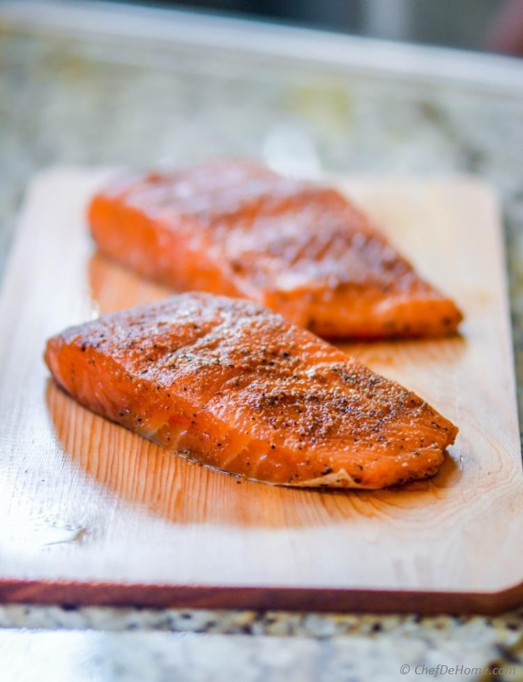 Smoked Salmon Rub  cedar planked salmon rub