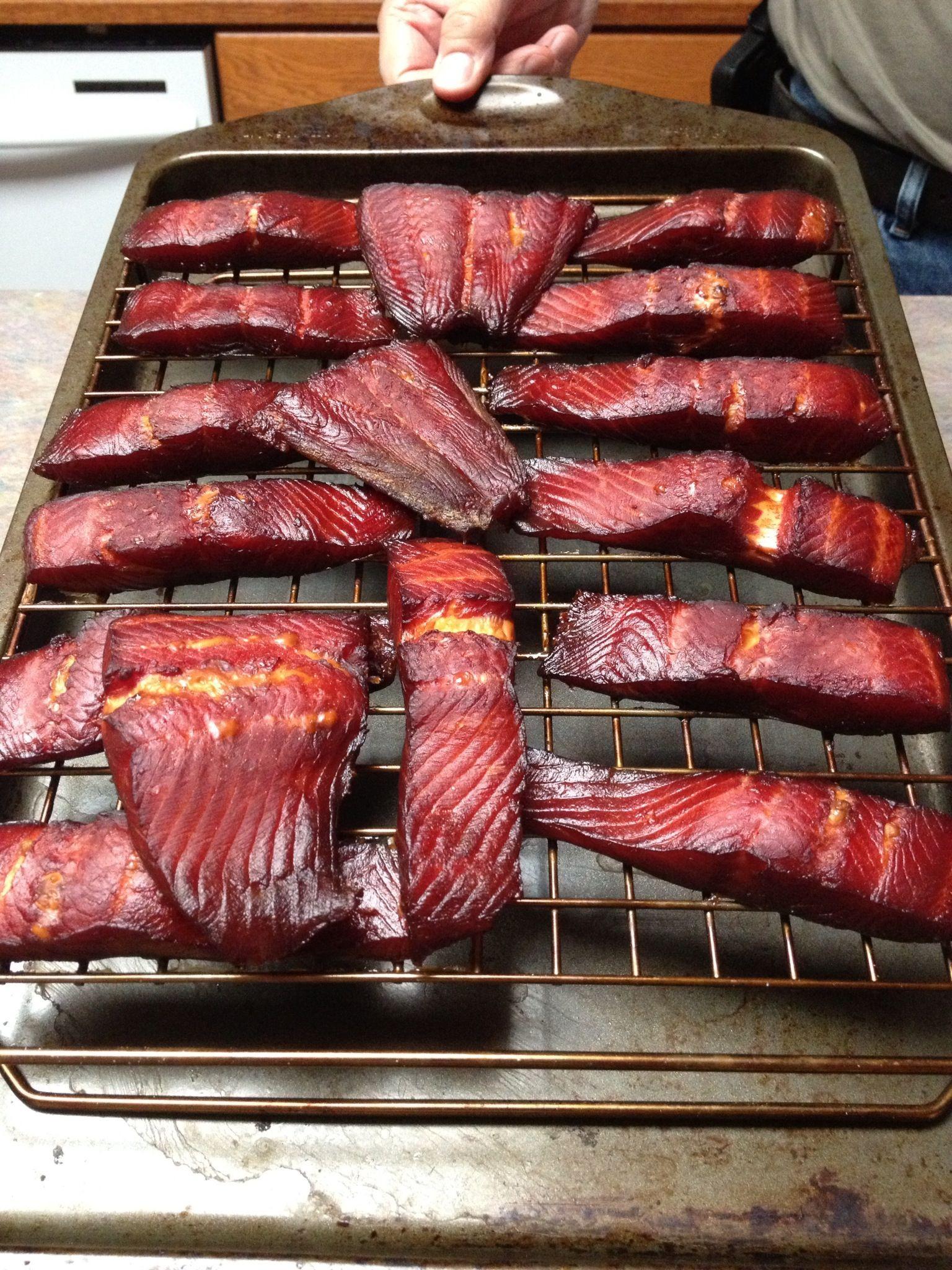 Smoked Salmon Traeger  Steel head salmon smoked on Traeger Grill