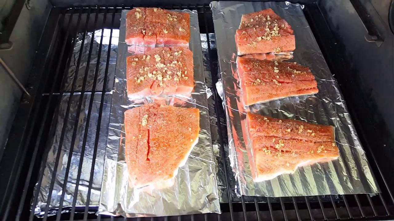 Smoked Salmon Traeger  Smoked salmon on the Traeger