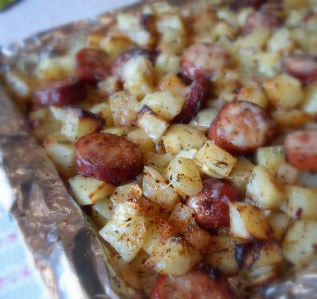 Smoked Sausage And Potato Bake  smoked sausage casserole with sauerkraut and potatoes