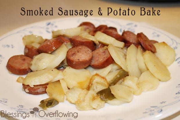Smoked Sausage And Potato Bake  Smoked Sausage & Potato Bake