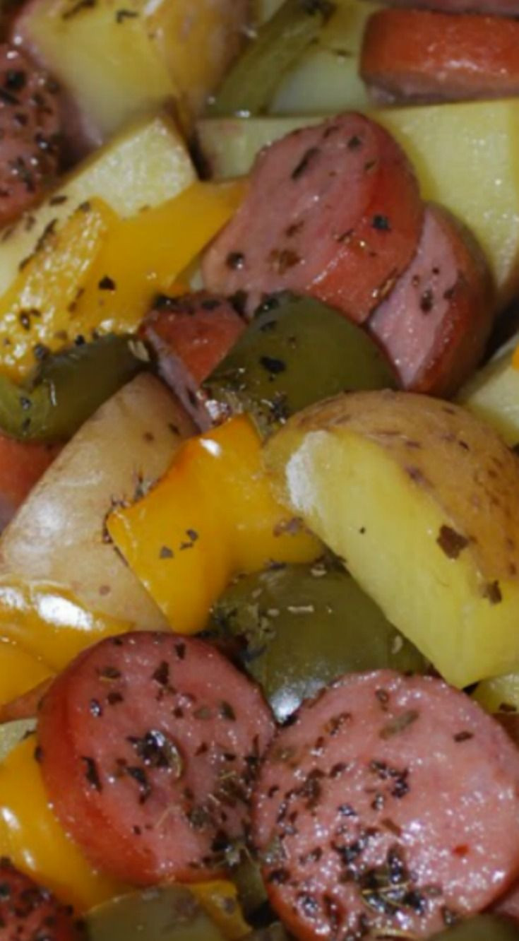 Smoked Sausage And Potato Bake  156 best as the world turns images on Pinterest