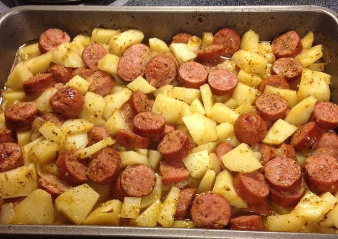 Smoked Sausage And Potato Bake  Sausage And Potato Bake Recipe — Dishmaps