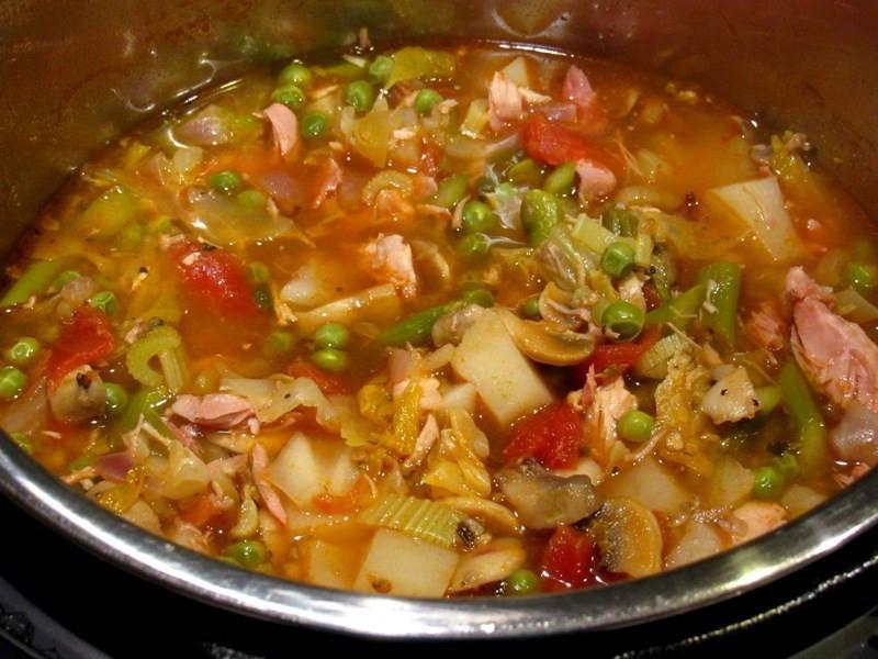 Smoked Turkey Soup  Instant Pot Smoked Turkey Ve able Soup Smokin Pete s BBQ