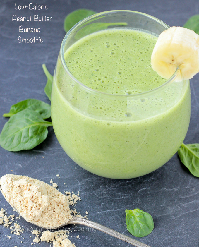 Smoothie Recipes With Spinach  Low Calorie Peanut Butter Banana Spinach Smoothie