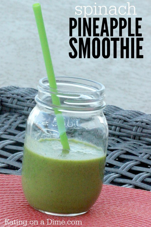 Smoothie Recipes With Spinach  spinach pineapple smoothie recipe
