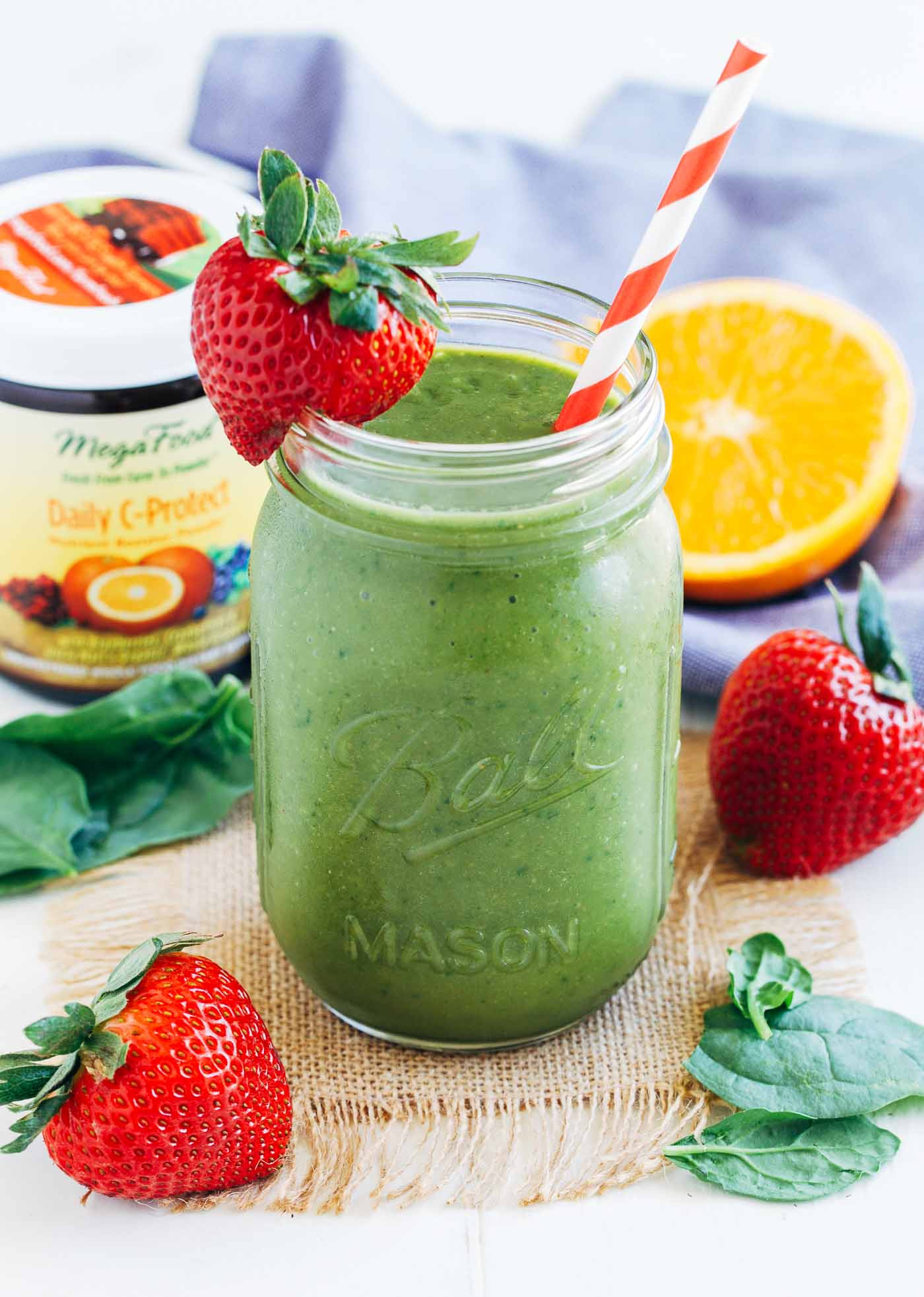 Smoothie Recipes With Spinach  Strawberry Mango Spinach Smoothie Making Thyme for Health