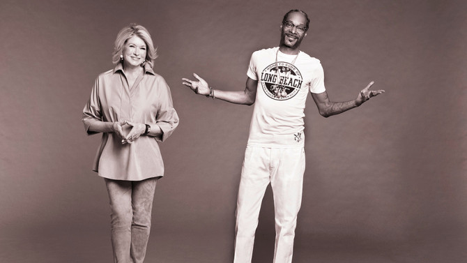 Snoop And Martha Dinner Party  Martha Stewart Snoop Dogg Set 50 Cent Among First Guests