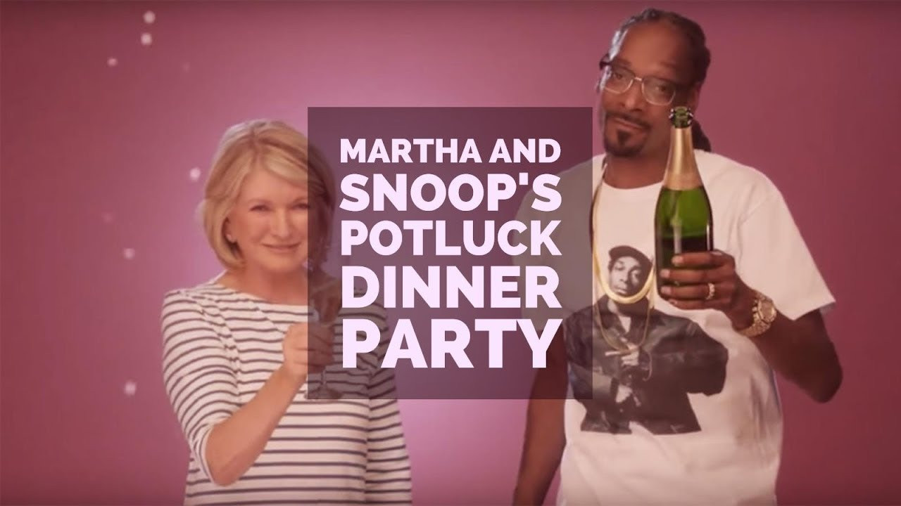 Snoop And Martha Dinner Party  Martha & Snoop s Potluck Dinner Party S02E01 Happy