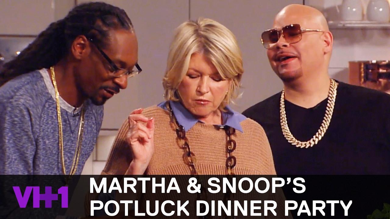 Snoop And Martha Dinner Party  Fat Joe & Kelis Join Snoop Dogg & Martha Sneak Peek