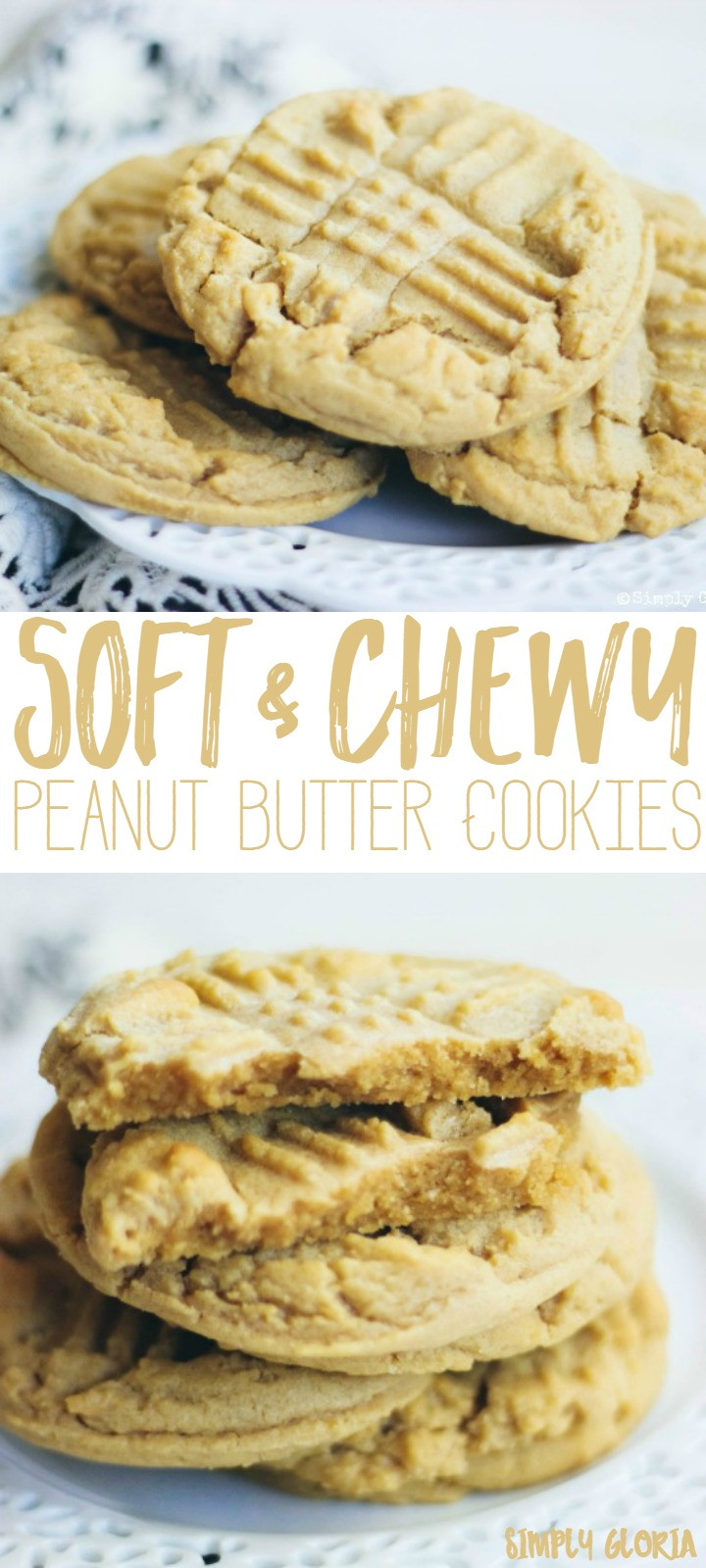Soft Chewy Peanut Butter Cookies  Soft and Chewy Peanut Butter Cookies Simply Gloria