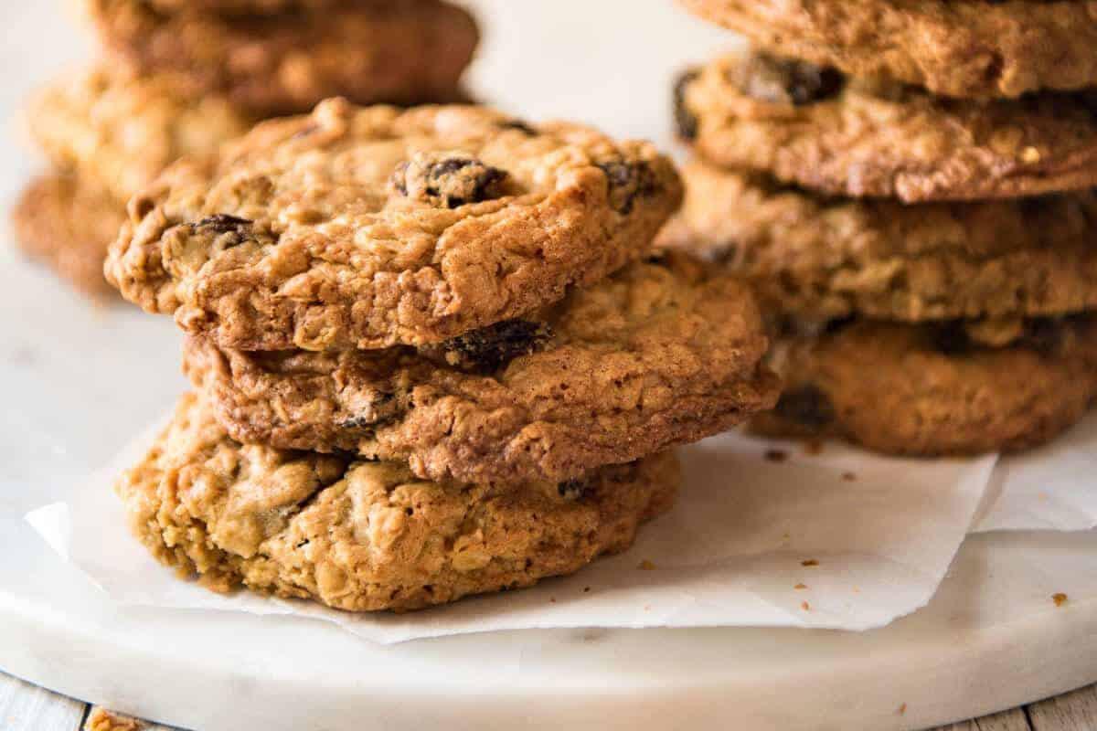 Soft Oatmeal Cookies  Oatmeal Raisin Cookies Soft & Chewy