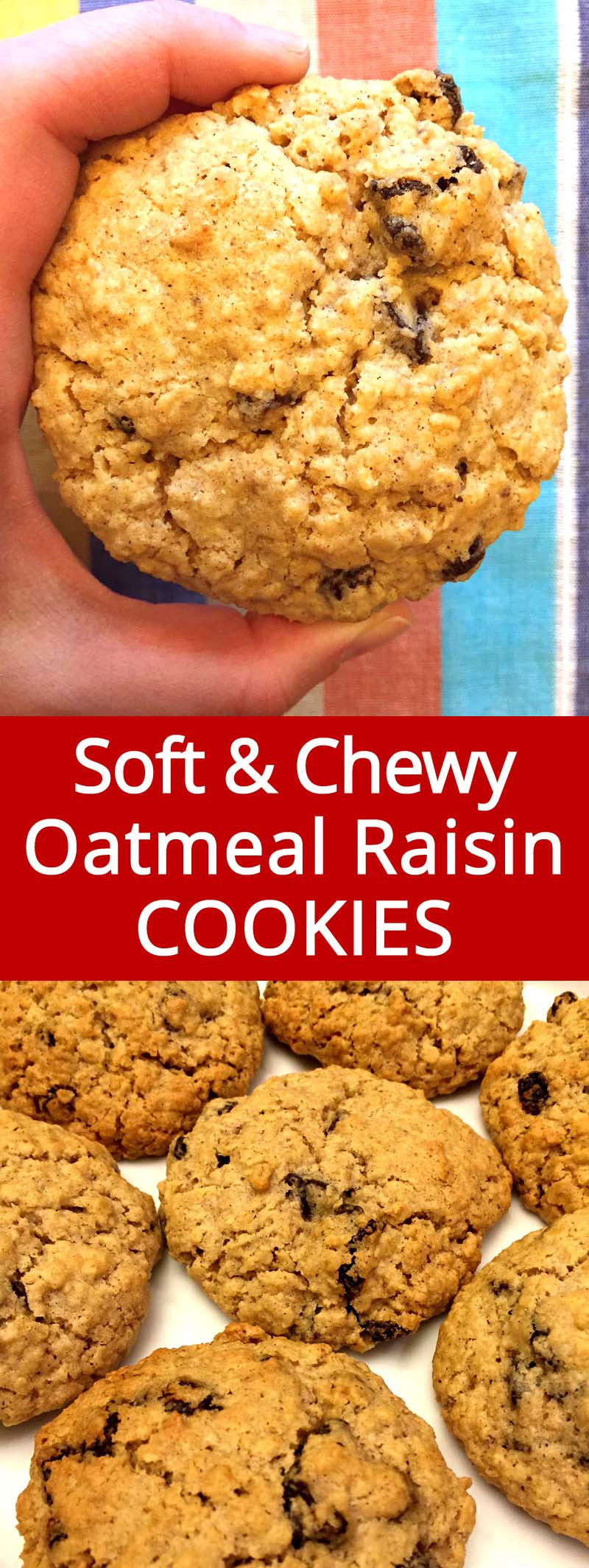 Soft Oatmeal Cookies Recipes  soft oatmeal raisin cookies