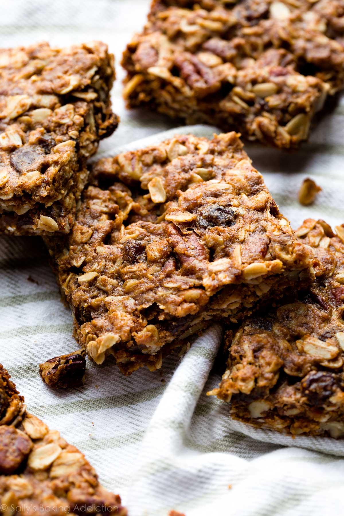 Soft Oatmeal Cookies  Soft Oatmeal Raisin Cookie Granola Bars TheDirtyGyro