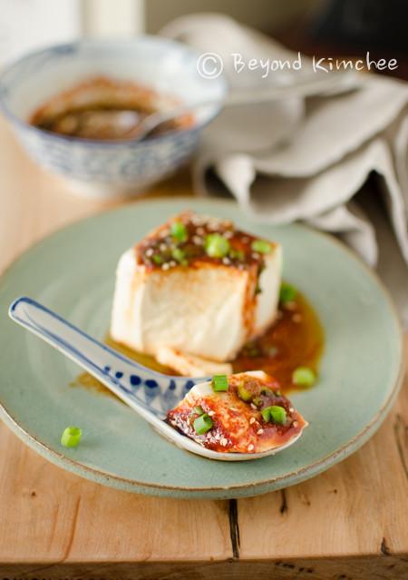 Soft Tofu Recipes  Silken Tofu With Soy Sauce And Chili Oil Recipe — Dishmaps