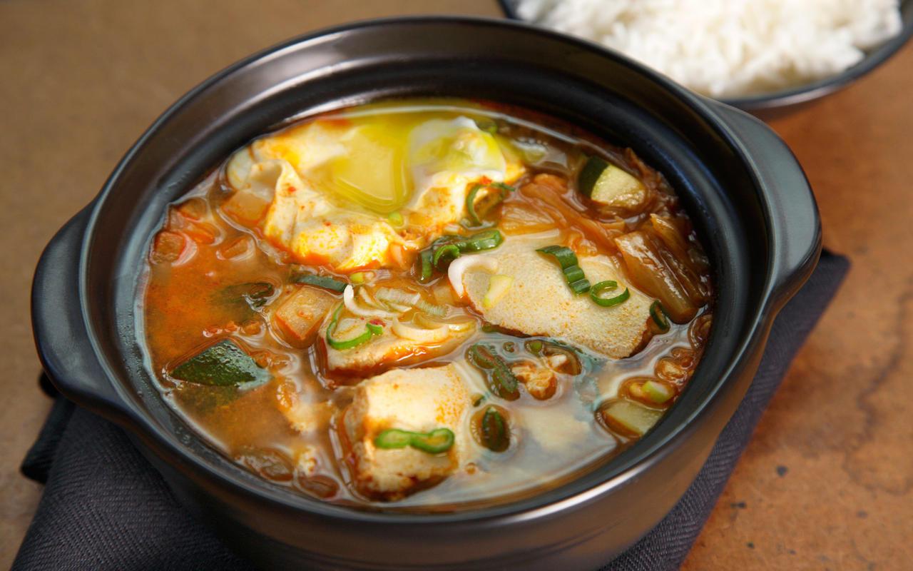 Soft Tofu Recipes  Korean Kimchi Tofu Soup Soondubu Jjigae Recipe Chowhound