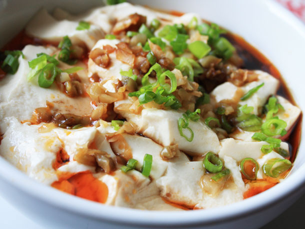 Soft Tofu Recipes  Chichi s Chinese Silken Tofu with Chili Oil