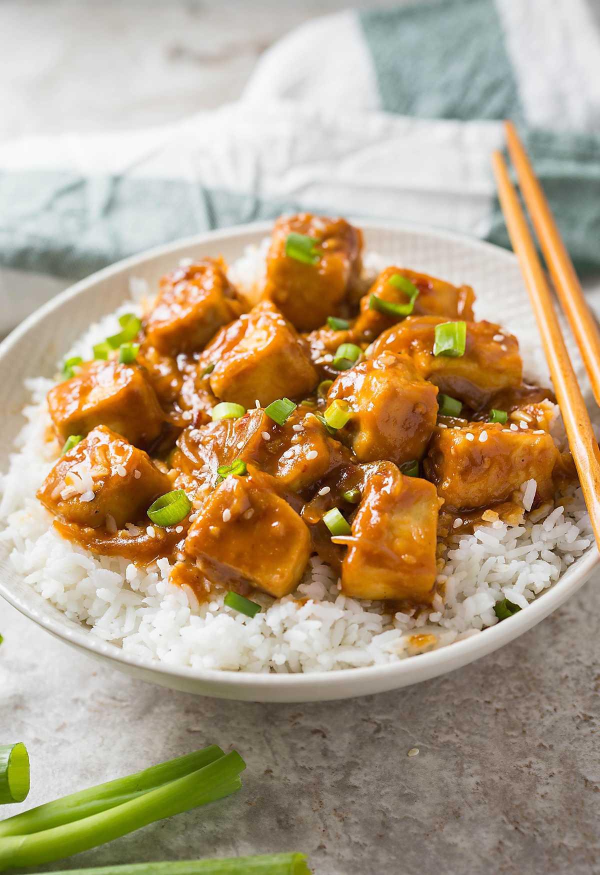 Soft Tofu Recipes  30 min Healthy Asian chili garlic tofu stir fry e Pan