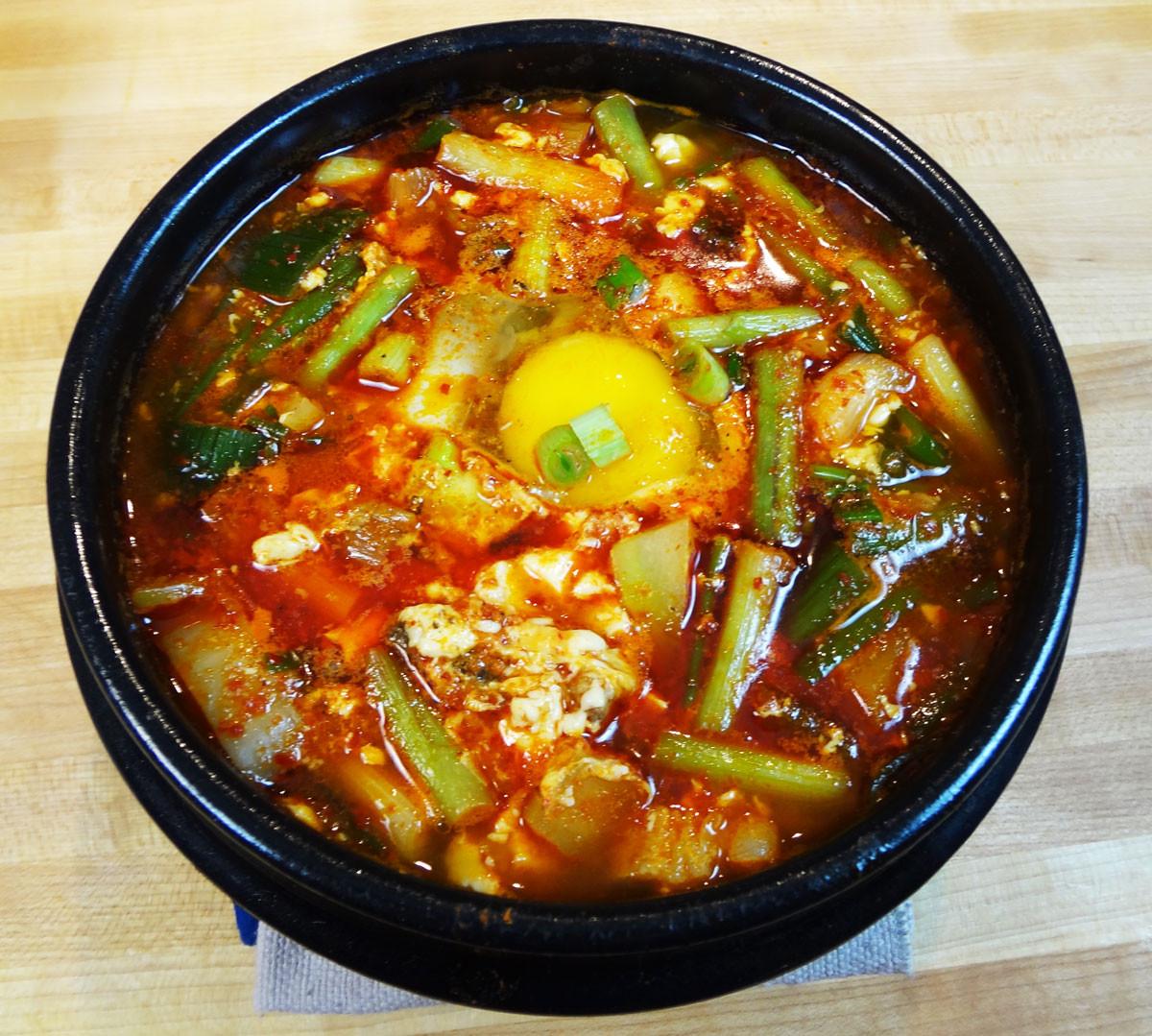 Soft Tofu Recipes  Haemul sundubu jjigae Spicy soft tofu stew with seafood
