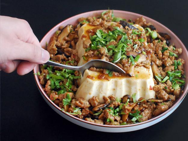 Soft Tofu Recipes  Chinese American Mashup Silken Tofu With Spicy Sausage