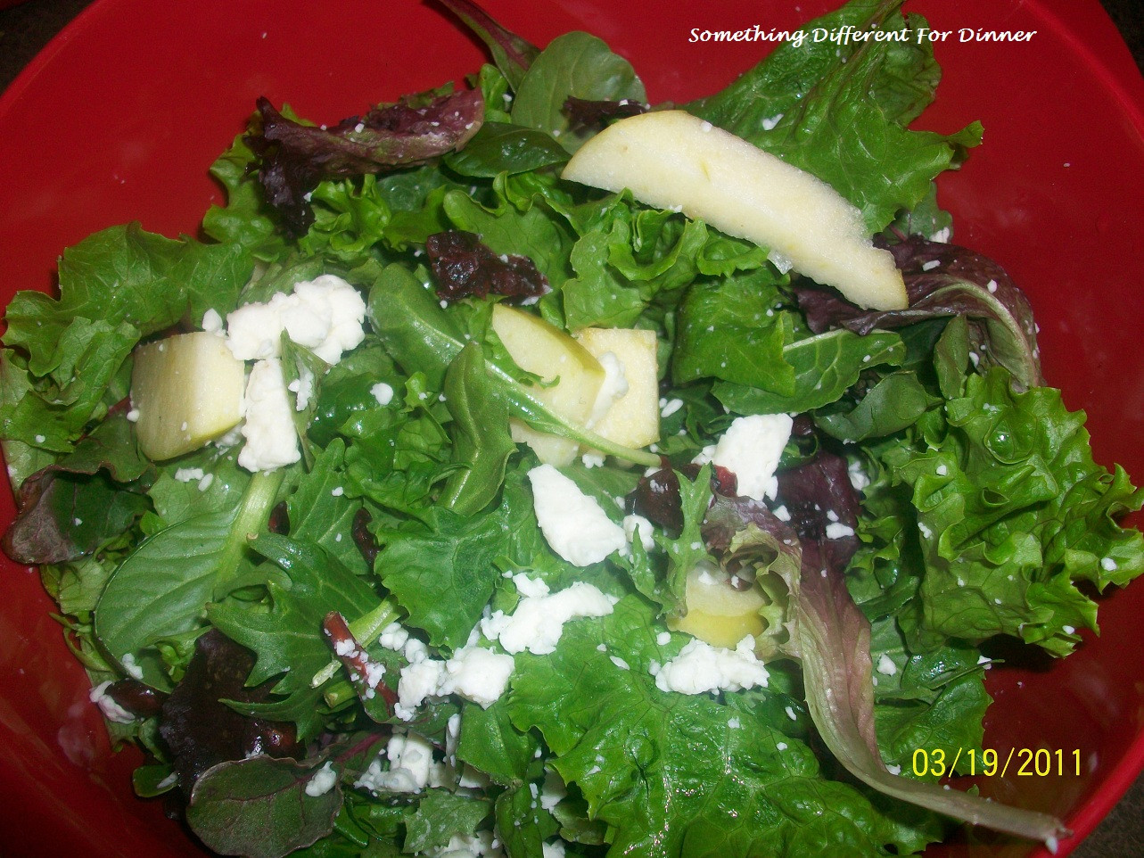 Something Different For Dinner  Something Different For Dinner 50 50 Salad w fuji apples