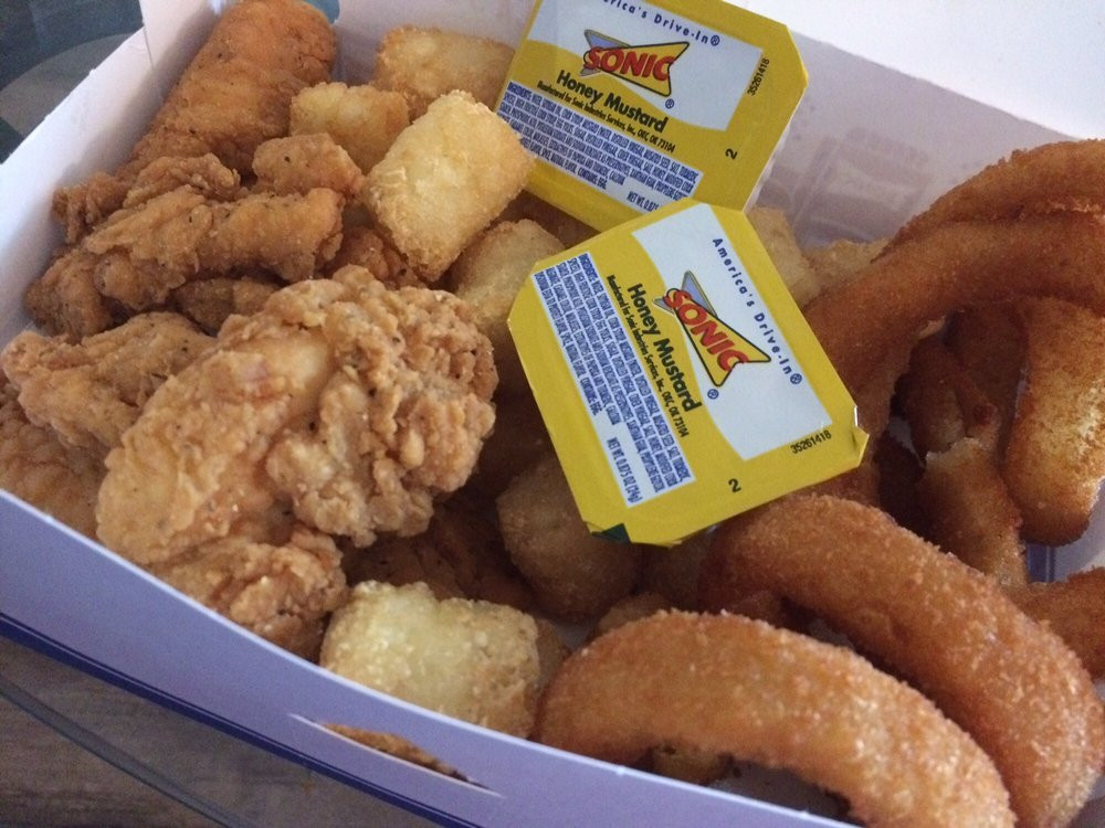 Sonic Chicken Strip Dinner  5 Piece Super Crunch Chicken Strips Dinner Yelp