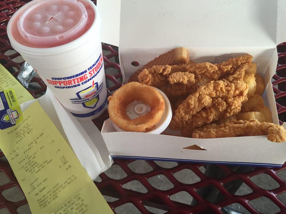 Sonic Chicken Strip Dinner  Chicken strip dinner Yelp
