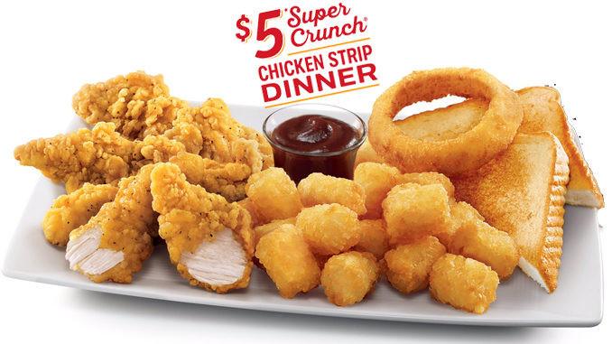 Sonic Chicken Strip Dinner  Sonic fers $5 Super Crunch Chicken Strip Dinner Chew Boom