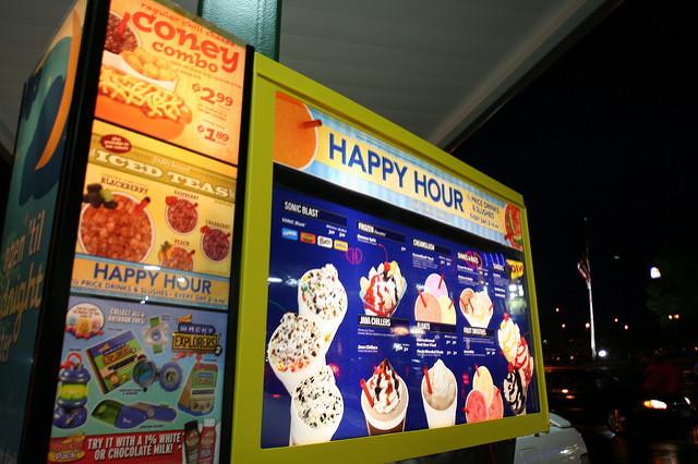 Sonic Dessert Menu  Sonic Drink & Dessert menu board