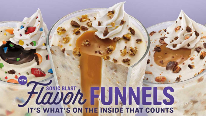 Sonic Dessert Menu  Sonic Launches New Sonic Blast Flavor Funnels Chew Boom