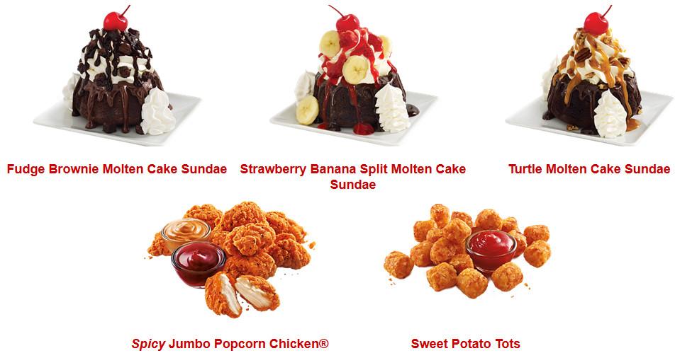 Sonic Dessert Menu  Sonic Adds Three Items to Menu