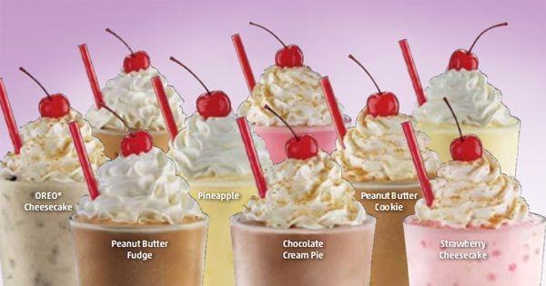 Sonic Dessert Menu  Sonic milkshakes are delicious Dessert