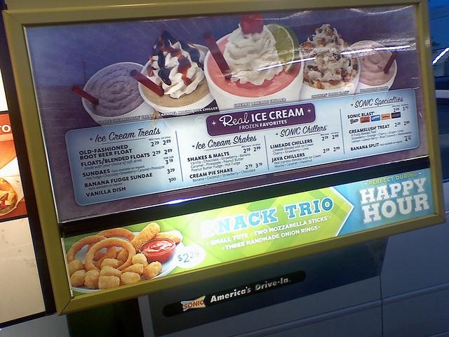 Sonic Dessert Menu  915e z