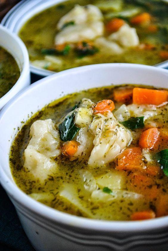 Soup Dumplings Recipe  Easy ve able and dumpling soup video