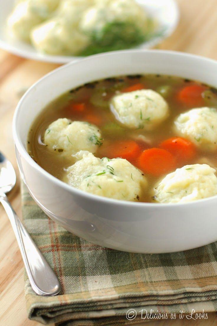 Soup Dumplings Recipe  Potato Dumplings for Soup Matzah Balls Kneidlach