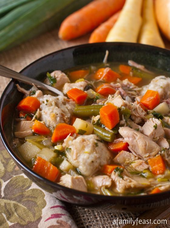 Soup Dumplings Recipe  Turkey Soup with Potato Dumplings A Family Feast