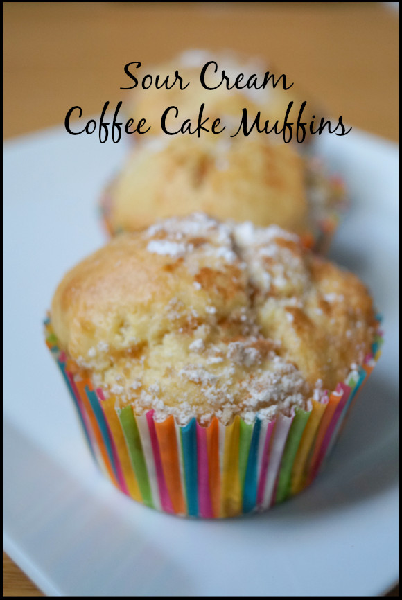 Sour Cream Coffee Cake Muffins  Easy to make and delicious Sour Cream Coffee Cake Muffins