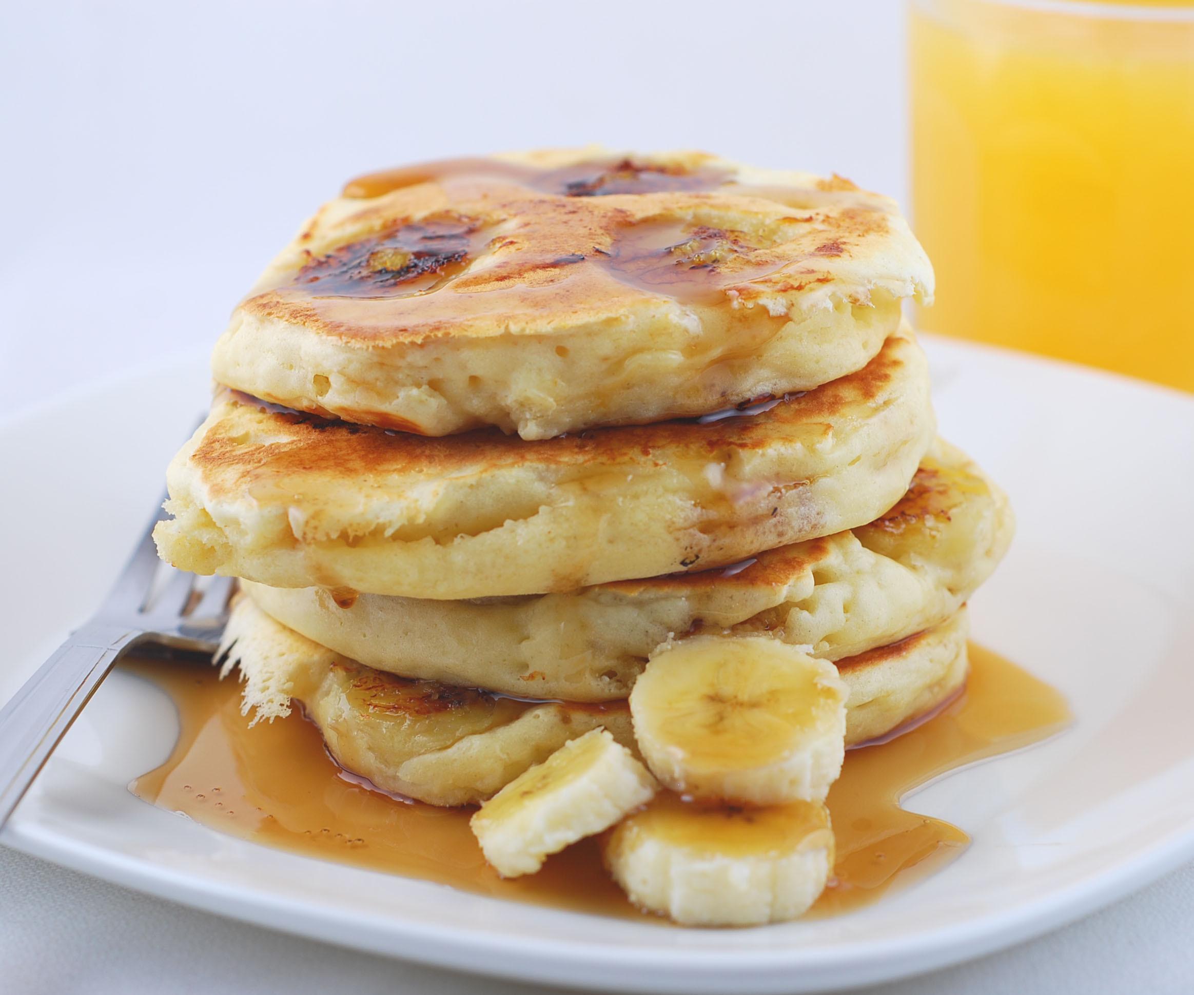 Sour Cream Pancakes  Banana Sour Cream Pancakes