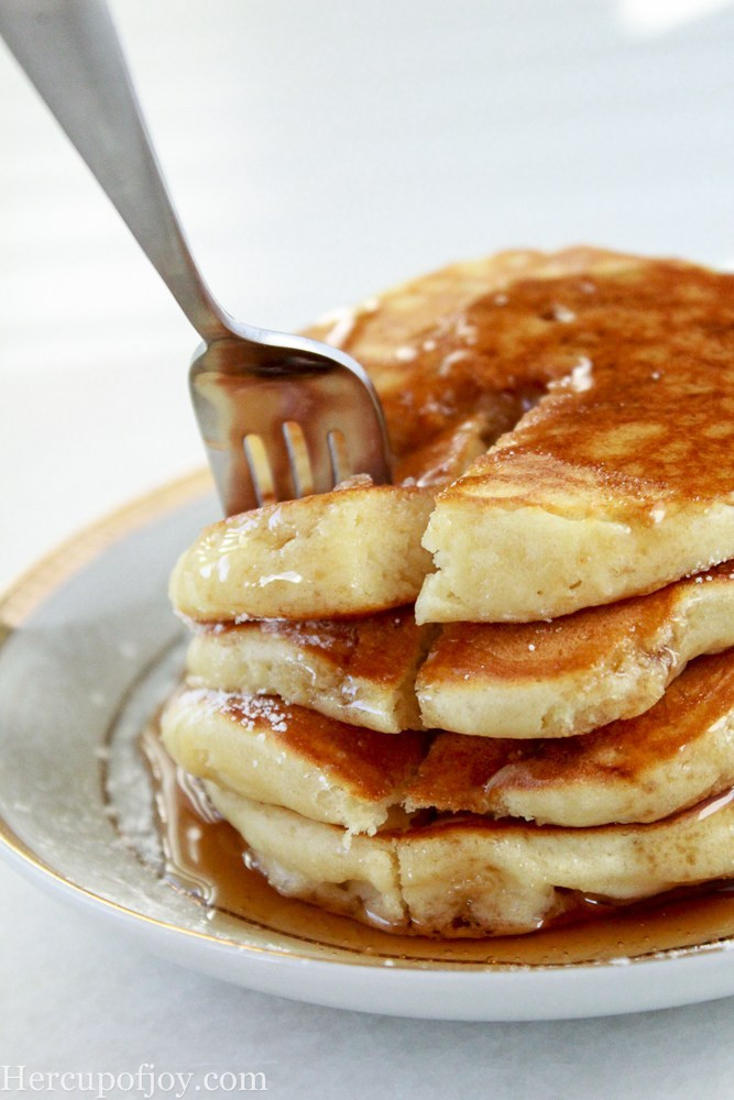 Sour Cream Pancakes  Simple Fluffy Sour Cream Pancakes Her Cup of Joy