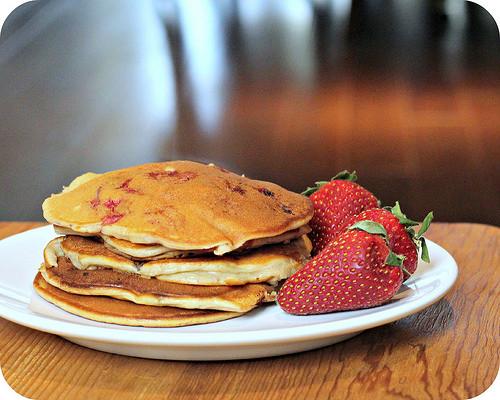 Sour Cream Pancakes  So Tasty So Yummy Strawberry Sour Cream Pancakes