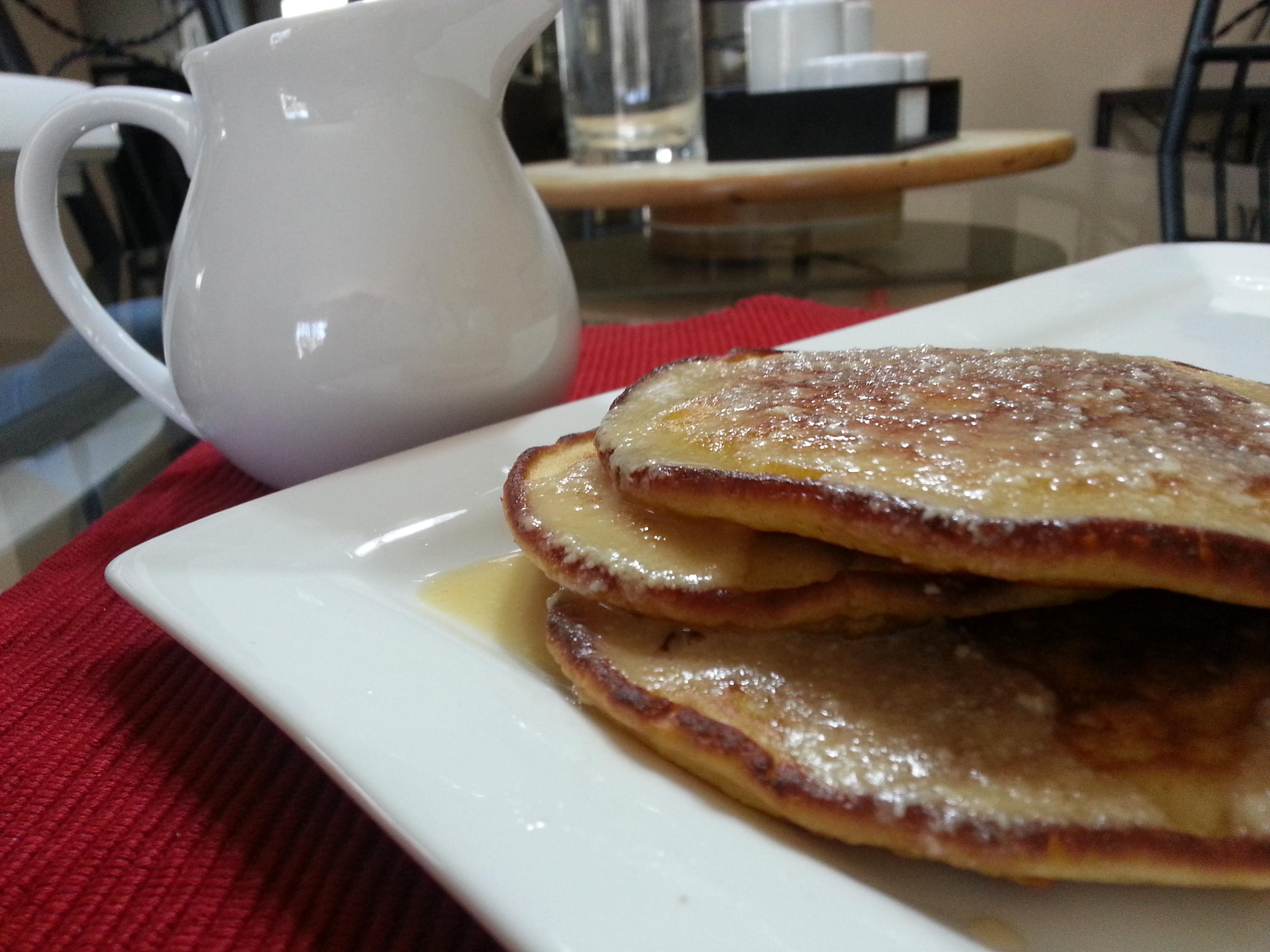 Sour Cream Pancakes  Sour Cream Pancakes with Sour Cream Maple Syrup BigOven