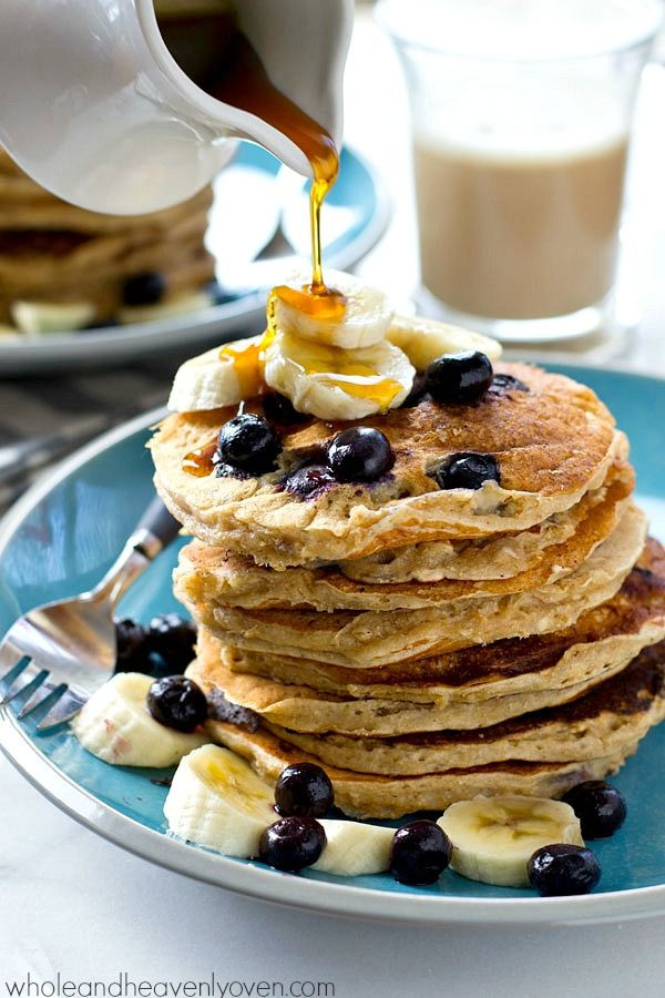 Sour Cream Pancakes  Blueberry Banana Oatmeal Sour Cream Pancakes