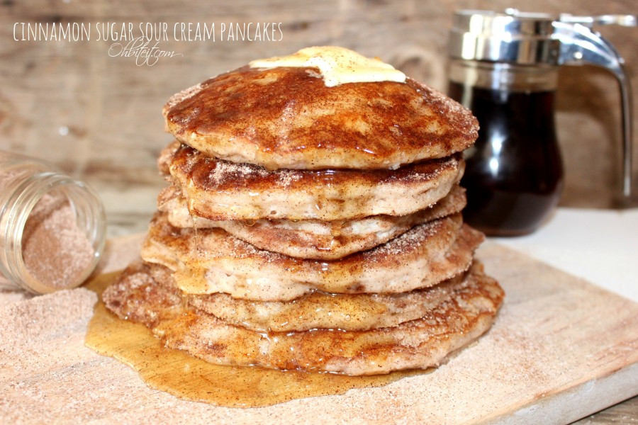 Sour Cream Pancakes  Cinnamon Sugar Sour Cream Pancakes Maria s Mixing Bowl