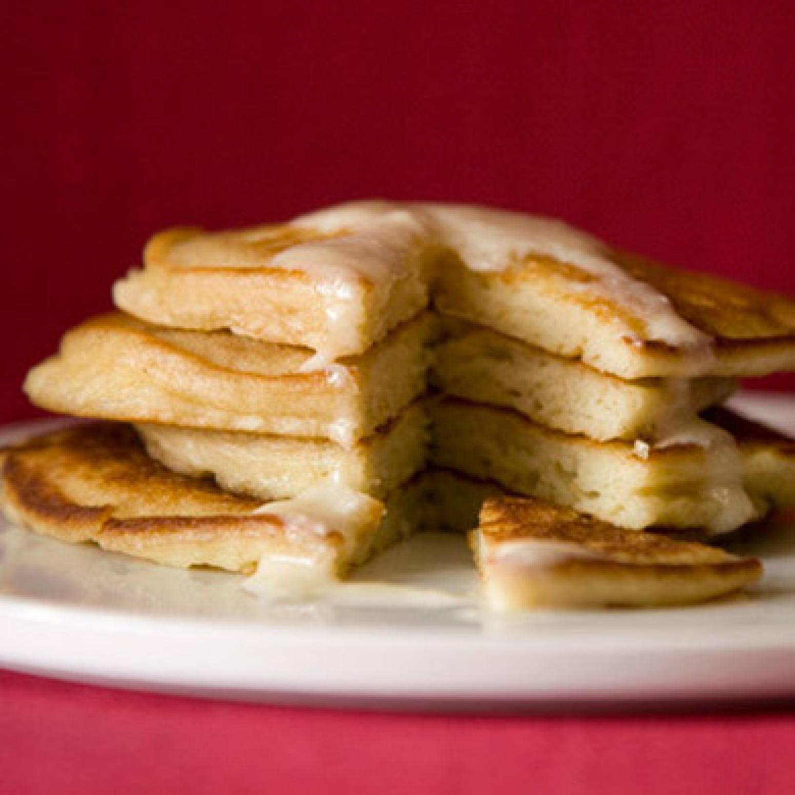 Sour Cream Pancakes  Sour Cream Pancakes with Sour Cream Maple Syrup Recipe