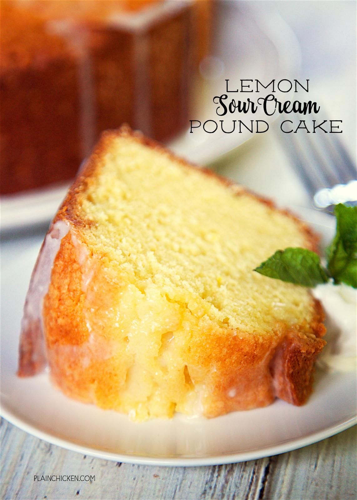 Sour Cream Pound Cake Recipe  Lemon Sour Cream Pound Cake