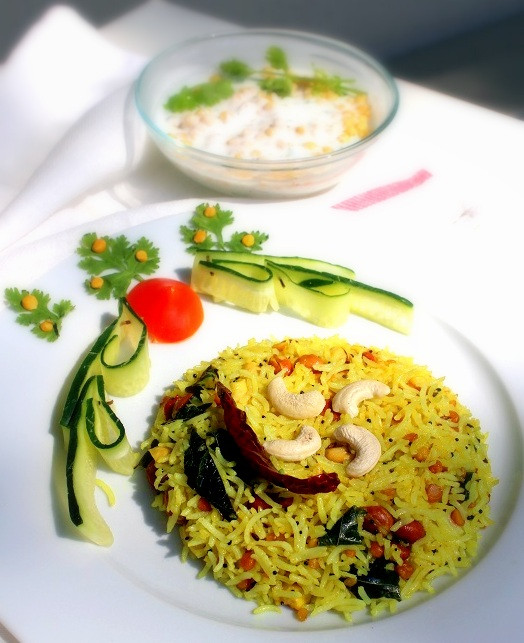 South Indian Recipes  Lemon Rice Recipe South Indian Style