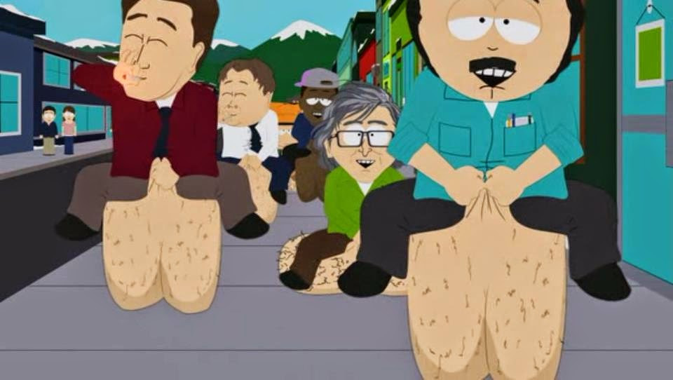 South Park Medicinal Fried Chicken  This guys knees look like balls sacks WTF