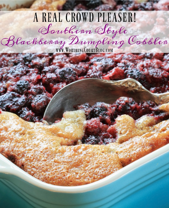 Southern Blackberry Cobbler Recipe  How To Make Southern Blackberry Dumpling Cobbler
