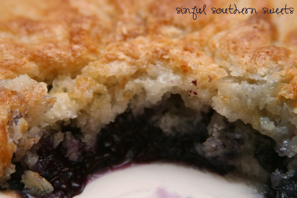 Southern Blueberry Cobbler  Sinful Southern Sweets 4th of July & Blueberry Cobbler