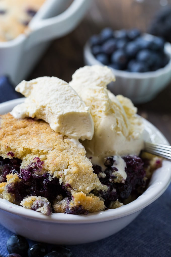 Southern Blueberry Cobbler  Blueberry Cobbler Spicy Southern Kitchen